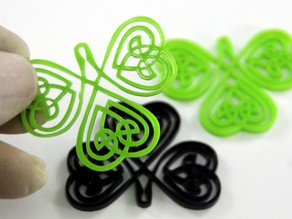 Celtic Clover Earring - Laser cut