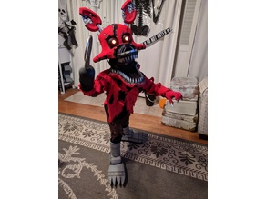 Nightmare Foxy Costume (mask and hook)