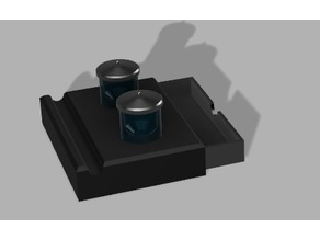 Inkwell and Base With Drawer