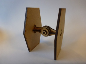 Lasercut, super simple mini Tie fighter