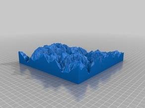 3D map of Verzasca valley, Switzerland