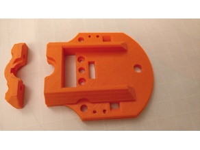 Short Edition - E3D Hotend mount for the Tevo Tarantula with BL Touch Mount