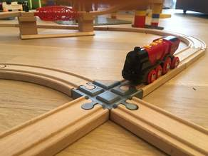 Wooden train track intersection : 4 ways (Brio, Ikea ...)
