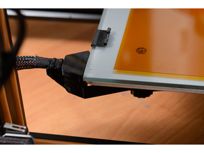 Creality CR-10 Strain relief bracket for heated bed cable