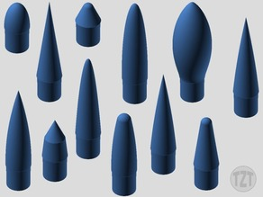 Model Rocket 25mm NC-50 Nose Cone Collection