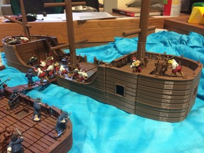 28mm miniature Boat Tiles PART 2: Raised Decks