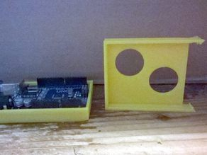 Solid Arduino Uno stand with 2 holes