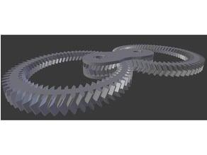 Fidget gears - fixed top layer