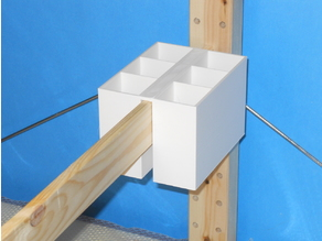 Twin Deep Partitionned Buckets for Ikea Ivar Shelving System