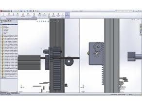 Rack and Pinion for Aluminium profile.