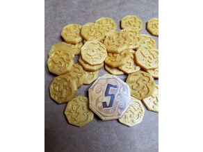 Gloomhaven 5 Gold Coin
