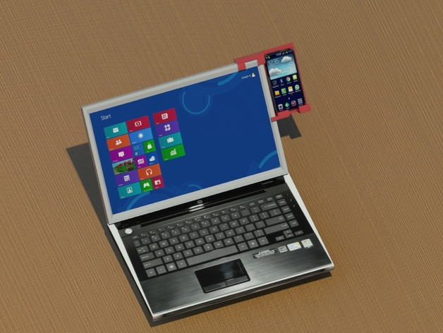 Laptop Smartphone Holder By Alavanimation Thingiverse