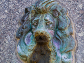 Lion fountain head