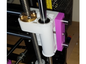 Anet X-axis Belt Tensioner for Anet with protruding X axis rods