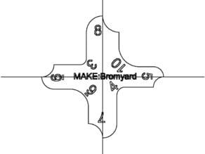 Laser cut radius gauge