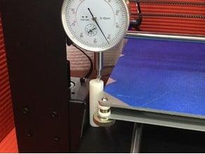 i3 Z axis dial indicator calibration post