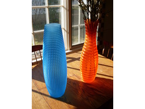 Tall Faceted Vases