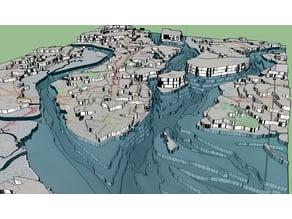 Charleston SC 3D Peninsula and Harbor (LaserCut)