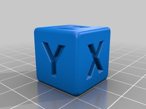 Calibration Cube XYZ 20x20x20 Rounded Edges