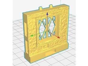 OpenLock 7.0 Tudor Wall Window -Diamond Pane