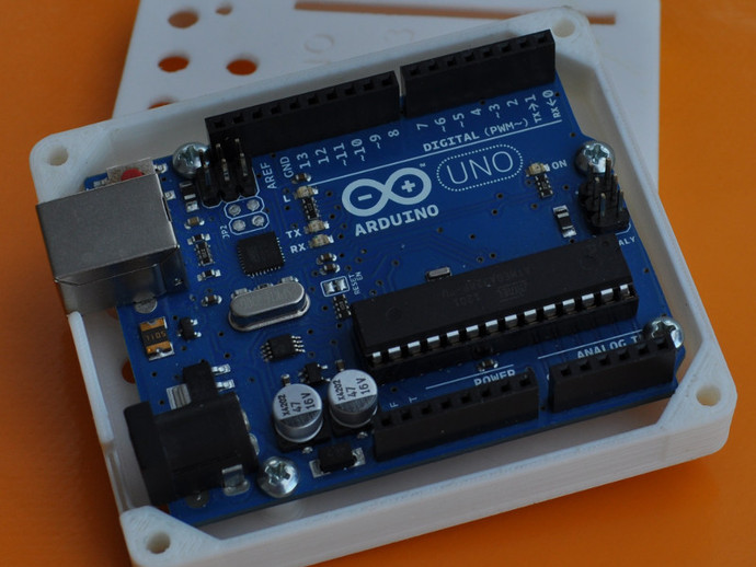 Arduino uno r case by icare thingiverse