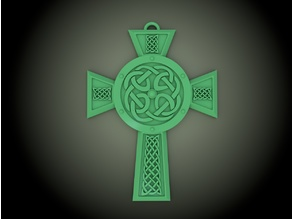 Celtic Cross Necklace/Tree Ornament/Jewelry Piece