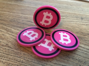 Bitcoin Poker Chips Multimaterial
