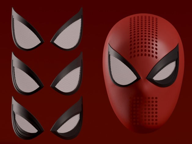 Spider-man PS4 Faceshell + Interchangeable Lenses by HappyMoon