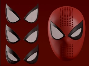 Spider-man PS4 Faceshell + Interchangeable Lenses