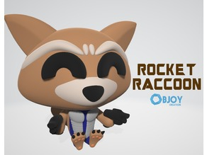Rocket Raccoon - Figurine and Keychain - by Objoy Creation