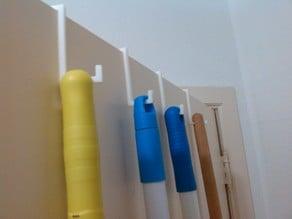 Door hook (for brooms,clothes,...)