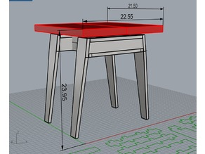 """""""Trudeau"""" sawhorse-style midcentury modern side table"""