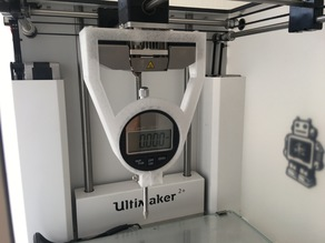 Messuhrhalter Ultimaker2+ / measure gauge holder Ultimaker2+