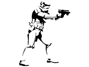 Stormtrooper Wall Stencil