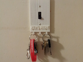 Switch Plate With Key Hook