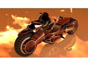 Black Crow Motorcycle Chopper