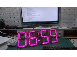 Seven segment clock