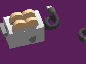 DailyEarring#101:Toaster ((non-)moving parts)
