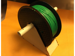 3D Printer Filament Holder, Plywood and PVC