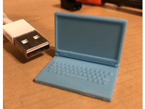 Hinged Toy Laptop with Keyboard