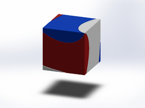 """Cube made from 3 identical pieces.  """"Trisection of a cube"""" or """"Helicoid Cube"""""""