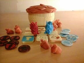 Squirrel Squabble 3D PnP board game