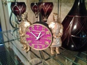 Terra Cotta Warrior Clock