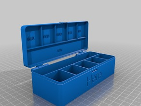 Customizable hinged box 1xN V2