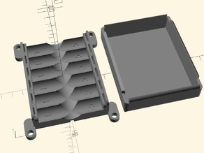 AA Battery Box - Parametric with also parametrised mounting holes and lid - Open SCAD included