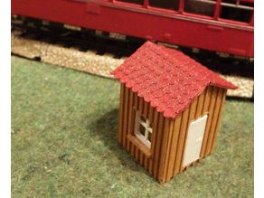 simple signalman house scale H0