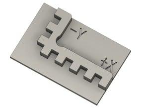 Orthogonality test card(calibration cube)