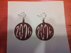 2016 new year earring