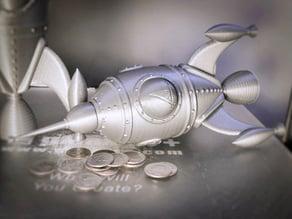 gCreate Rocket Ship Money Bank