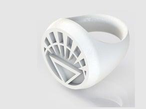 White Lantern Ring